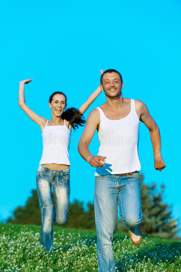 Download Young Couple Run Stock Photos - Image: 22826563