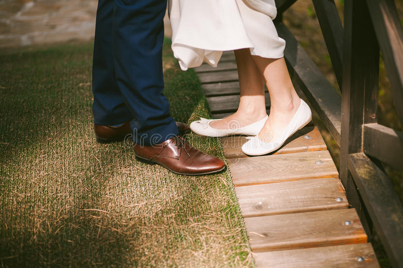 Young couple's legs royalty free stock images