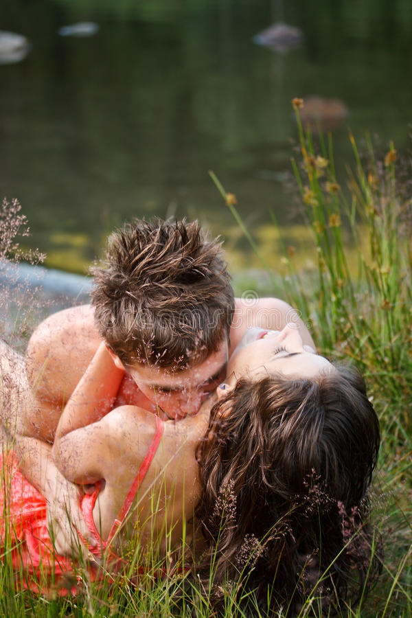 Young Couple On The Shore Stock Photography