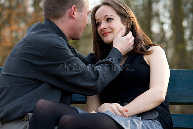Young couple showing love royalty free stock image