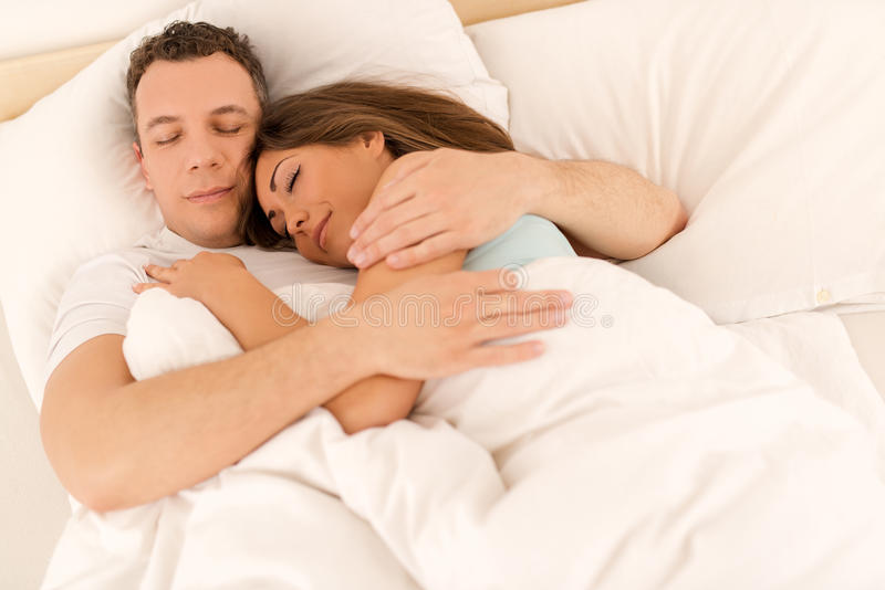 Young Couple Sleeping royalty free stock photography