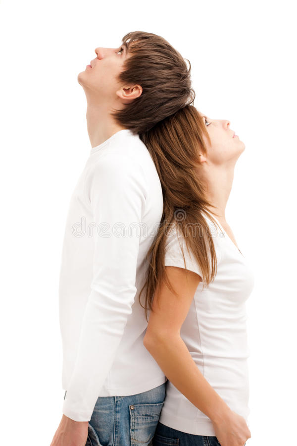 Download Young couple standing stock image. Image of girlfriend - 12493013