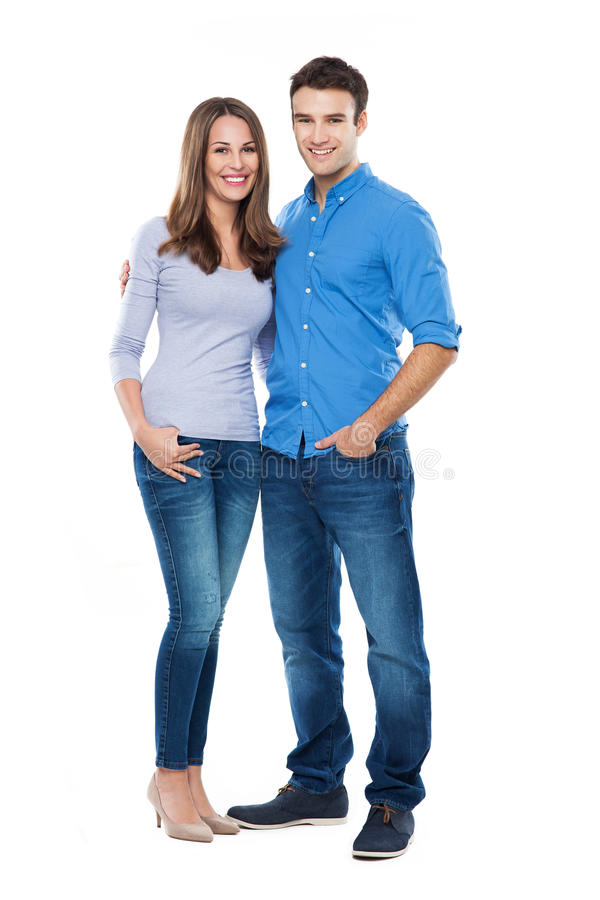 Young couple standing royalty free stock photos