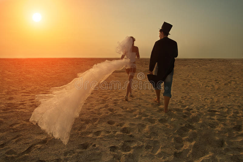 Download Young couple at sunset stock image. Image of antic, groom - 27625233