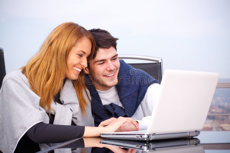 Download Young Couple Surfing The Internet Royalty Free Stock Image - Image: 7818206