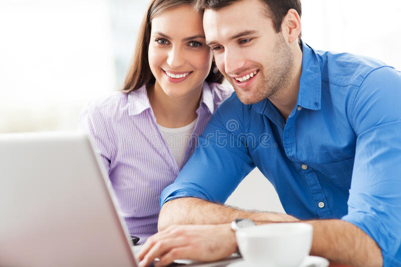 Download Young people with laptop stock image. Image of male, people - 29950391