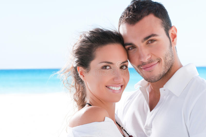Download Young couple vacation stock photo. Image of beach, flirt - 18734196