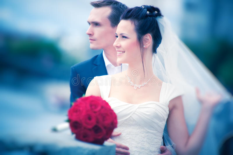 Young Couple Wedding Stock Photography