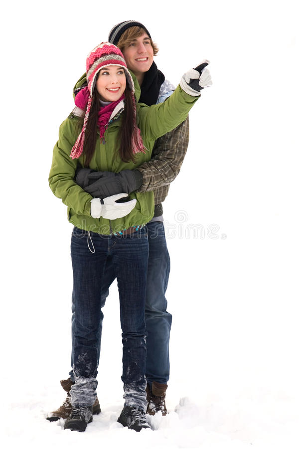 Young Couple In Winter Clothing Stock Image
