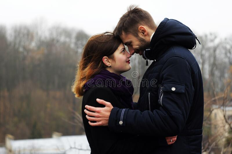 Young Couple On Woman During Winter Free Public Domain Cc0 Image