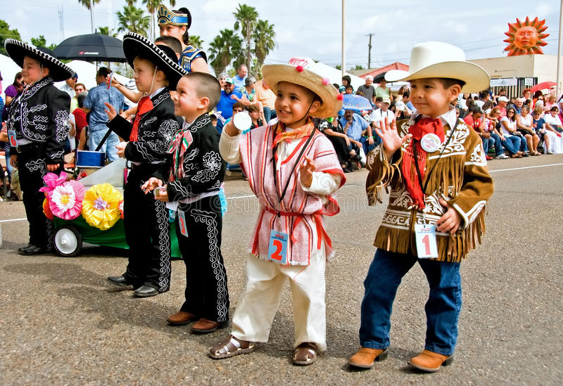 Young cowboys stock image
