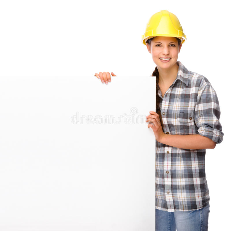 Young craftswoman royalty free stock image