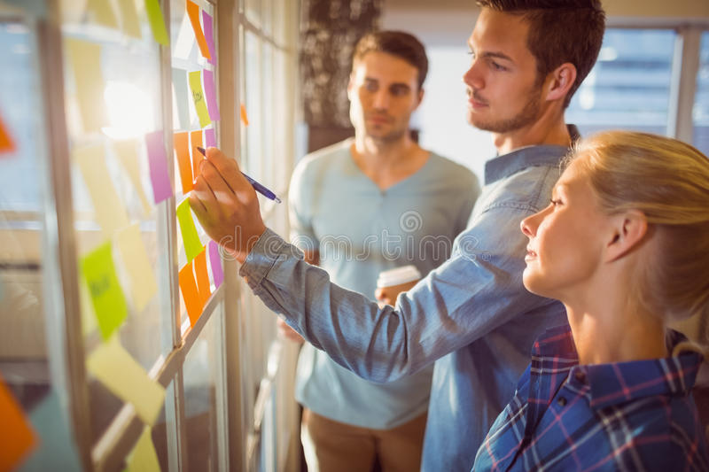 Young creative business people stock image