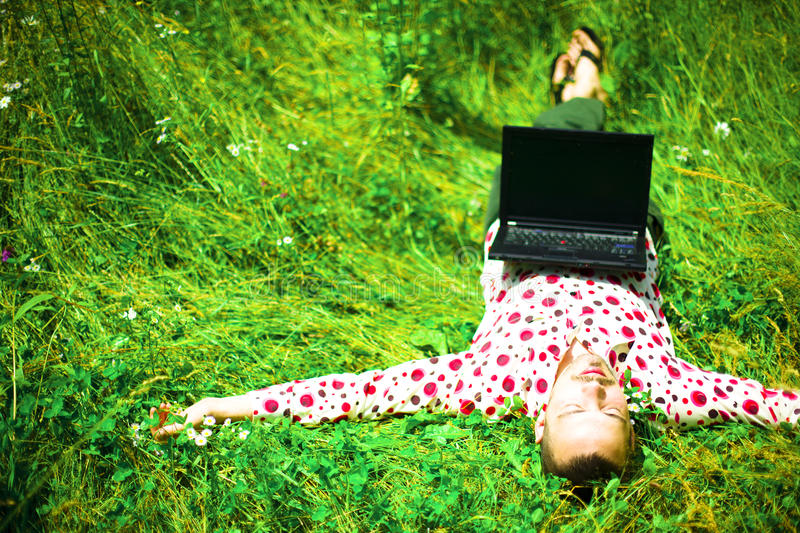 Young creative man resting royalty free stock photography
