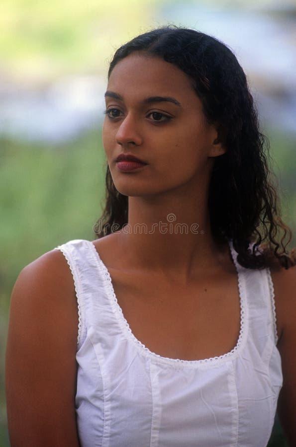 Young creole girl stock photography