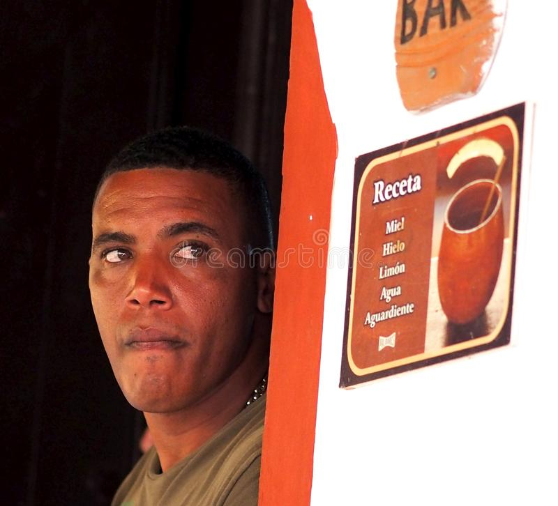 Free Young Cuban Man In Doorway Royalty Free Stock Images - 108986219