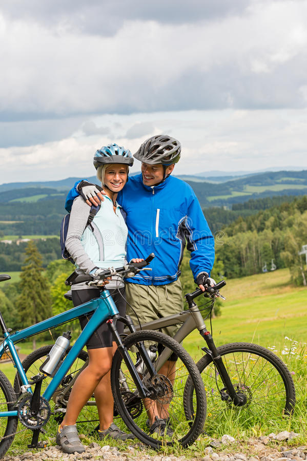 Download Young Cyclists With Mountain Bikes During Summer Weekend Royalty Free Stock Photos - Image: 29932898