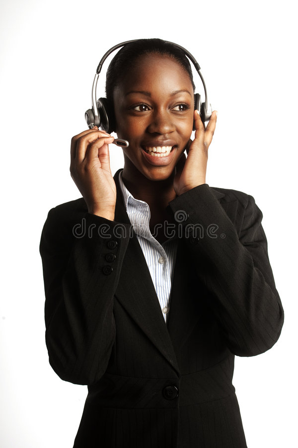 Young customer service stock photo
