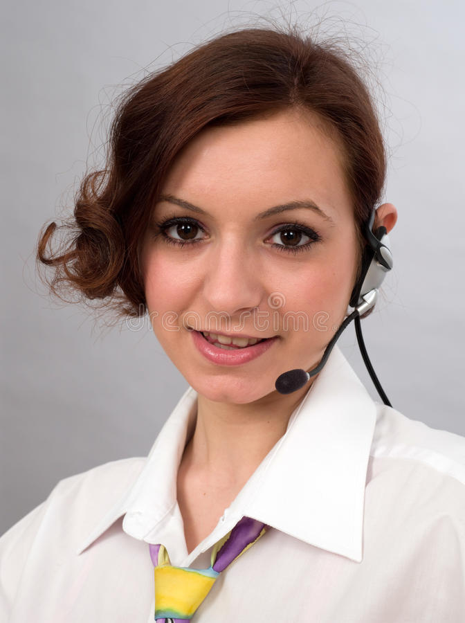 Young customer service royalty free stock photography