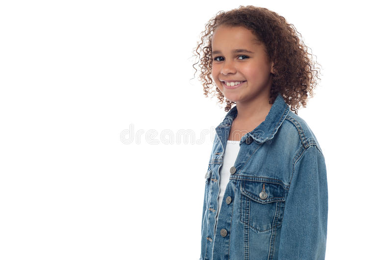 Young cute african girl royalty free stock images