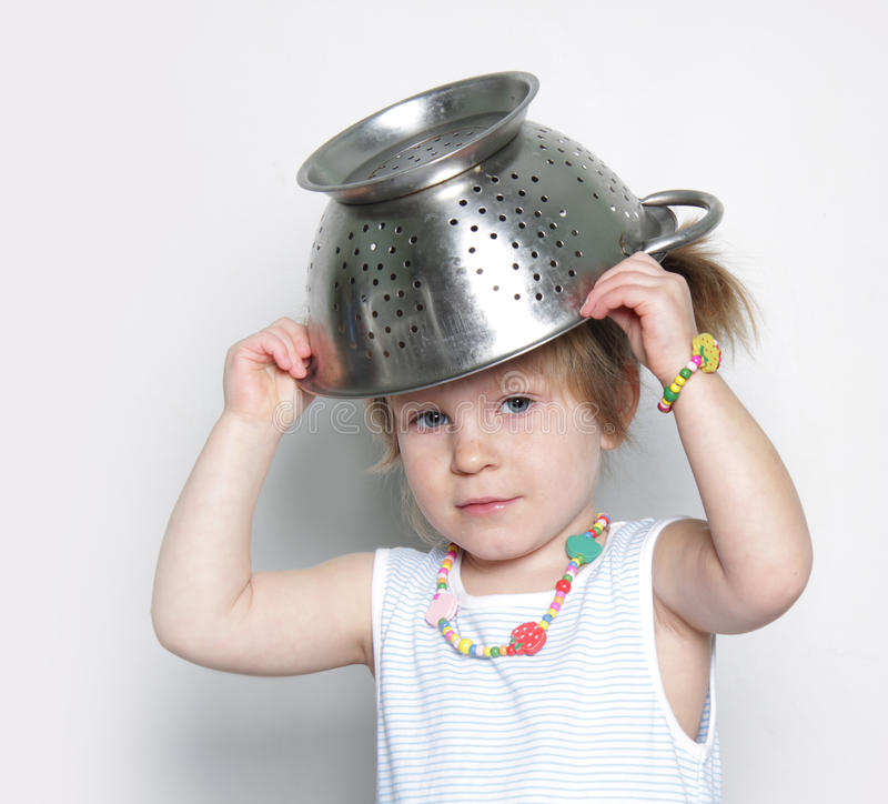 Download Young cute girl cooking stock photo. Image of play, hide - 23059748