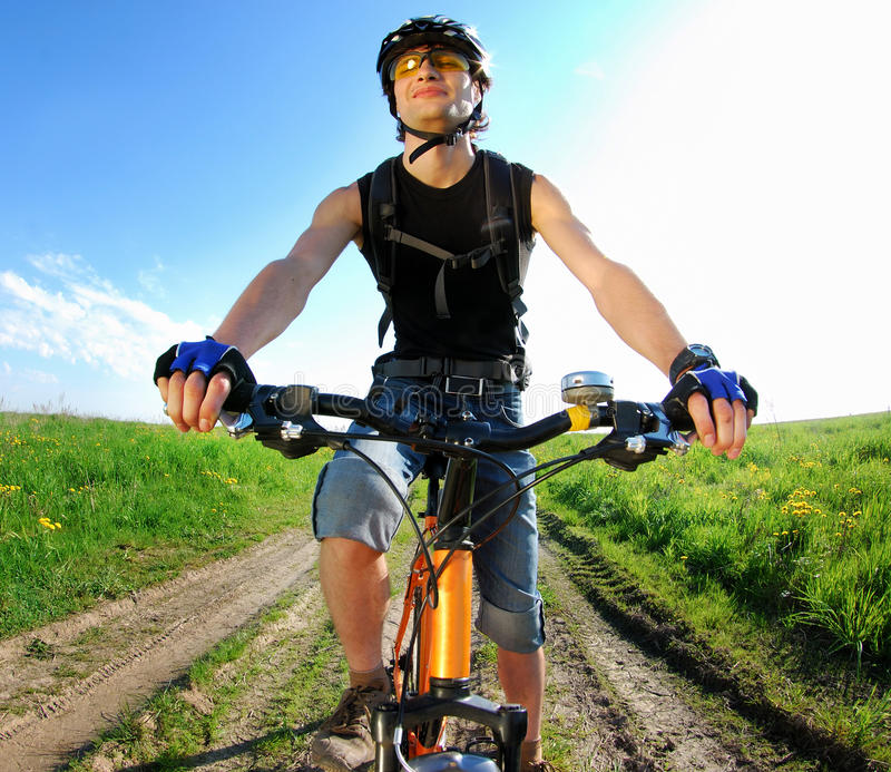 Download A young cyclist portrait stock photo. Image of health - 14558306
