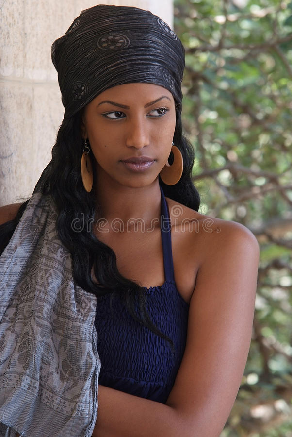 Young dark skin beauty royalty free stock image