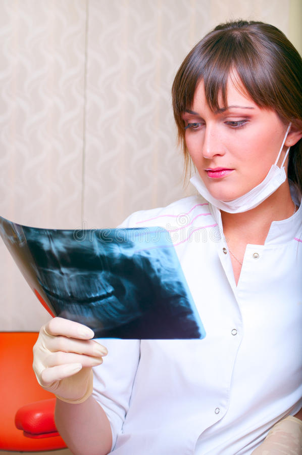 Download Young Dentist With X-ray Stock Photography - Image: 15761372