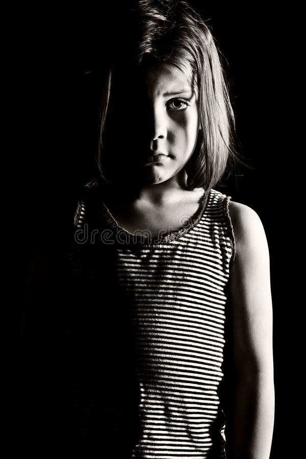 Young Depressed Girl royalty free stock images