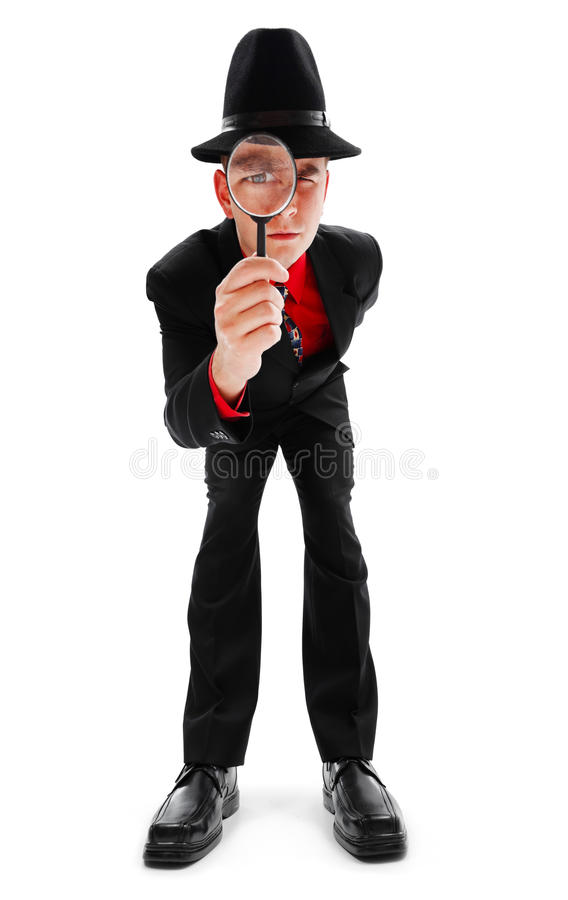 Download Young Detective With Magnifier Stock Photo - Image: 16734464