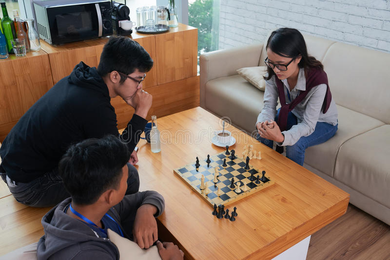 Game of chess stock photography