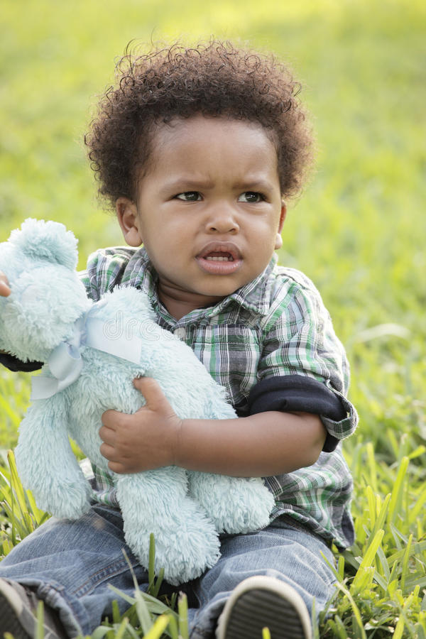 Download Young displeased child stock image. Image of adorable - 12461207