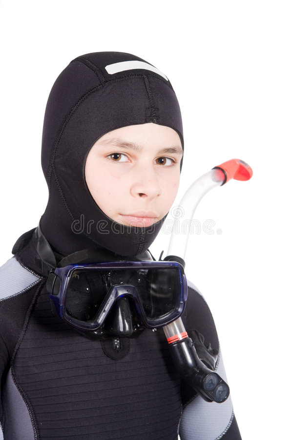 Download Young diver stock photo. Image of mask, wetsuit, suit - 7830698