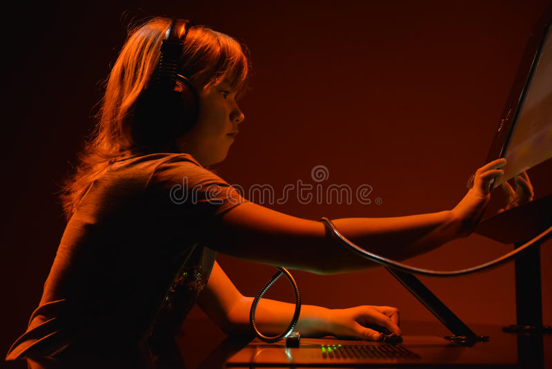 Download Young dj playing music stock image. Image of buttons - 29702557