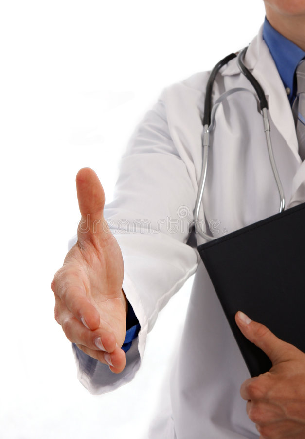 Young Doctor Handshake royalty free stock photos