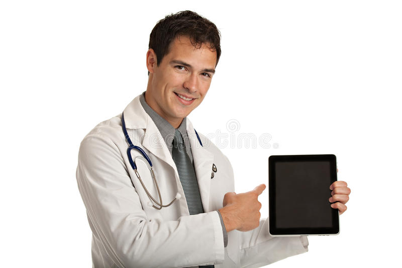 Download Young Doctor Holding A Touch Pad Tablet PC Stock Image - Image: 21120221