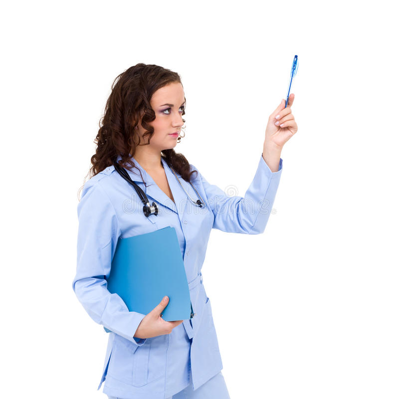 Download Young Doctor Showing Direction Stock Photo - Image: 26953630