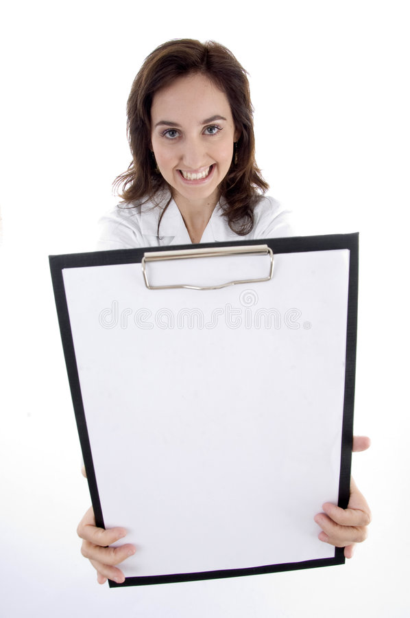 Download Young Doctor Showing Medical Prescription Stock Image - Image: 6978677