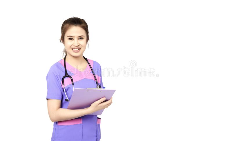 Female pediatrician at her office royalty free stock photography