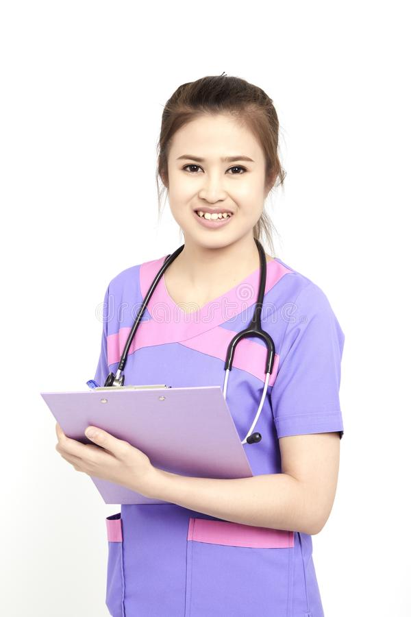 Female pediatrician at her office stock photography
