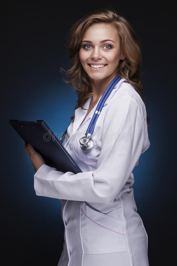 Download Young Doctor Woman With Stethoscope Stock Image - Image: 27267619