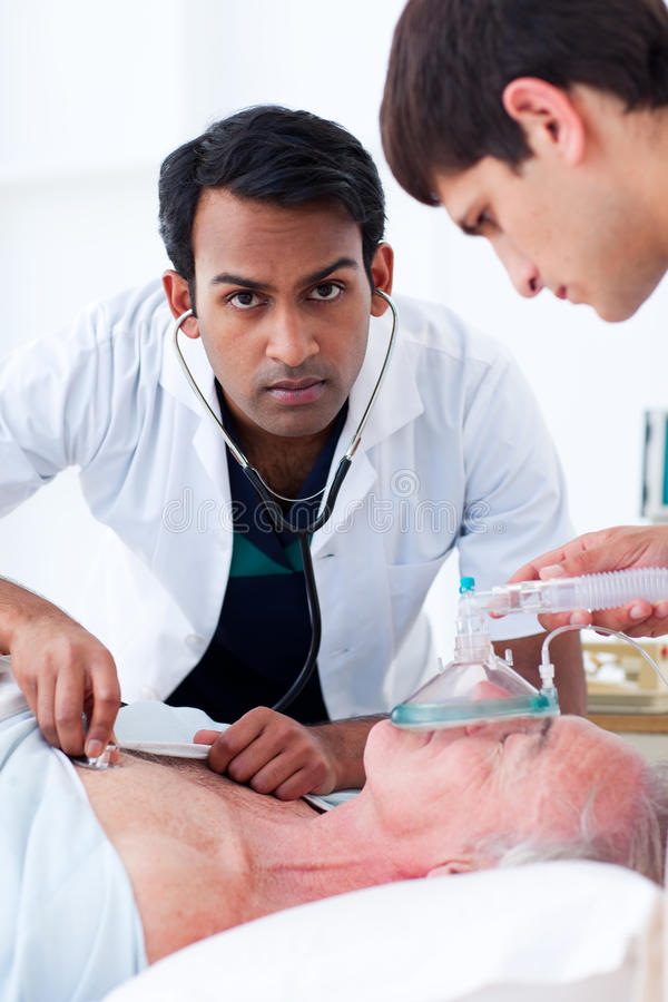 Young Doctors in an emergency unit royalty free stock image