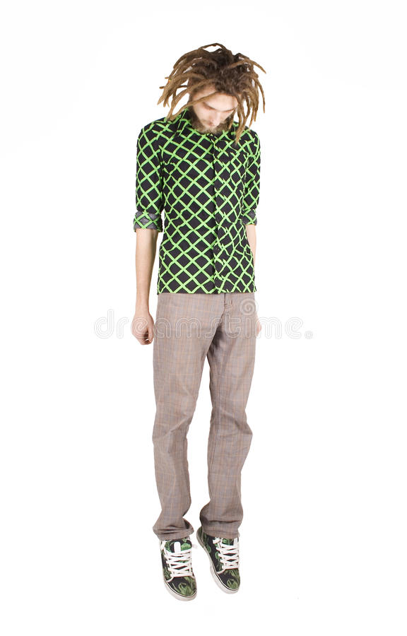 Download Young Dreadlock Man Hang Isolated Stock Photo - Image: 12532330