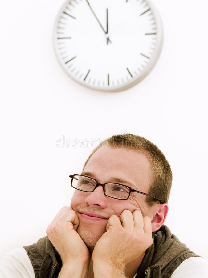 Download Young dreaming student stock photo. Image of time, young - 10565200