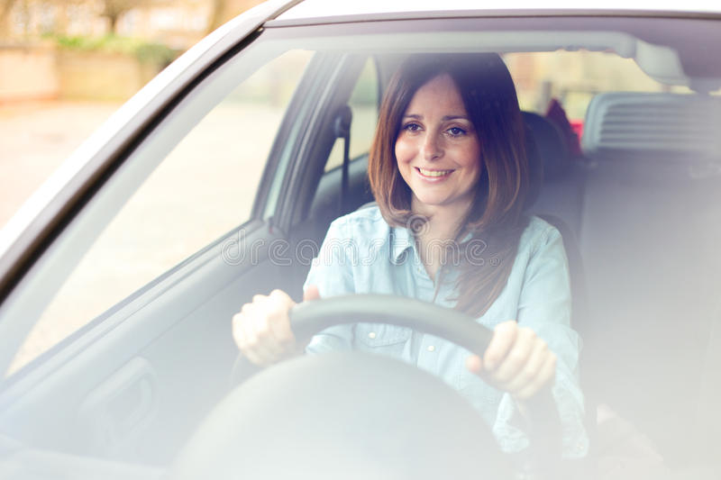 Young driver stock photography