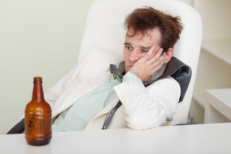 Download Young Drunkard With Hangover After Holiday Stock Image - Image: 11869777