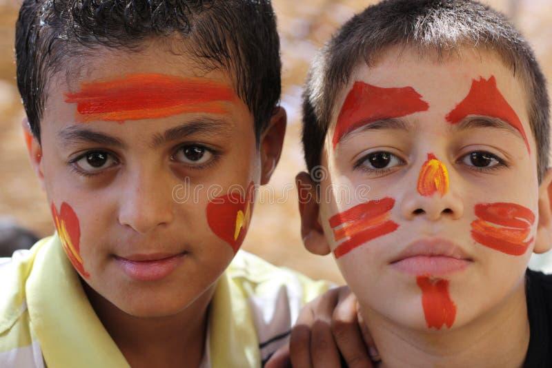 Young Egyptian boys stock photos