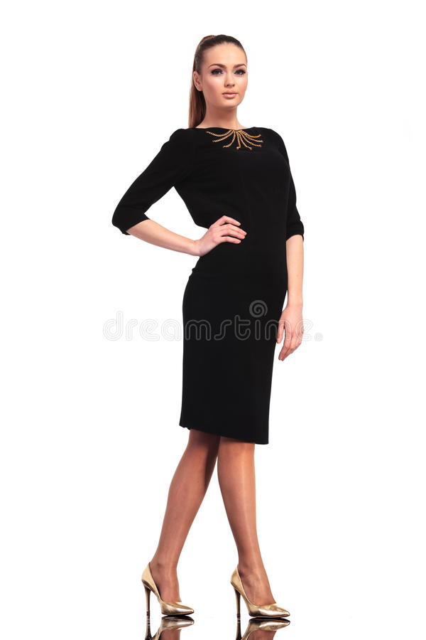 Young elegant business woman posing stock images