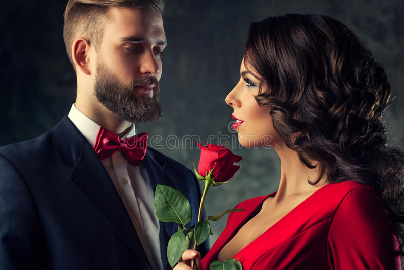Young elegant couple stock photo