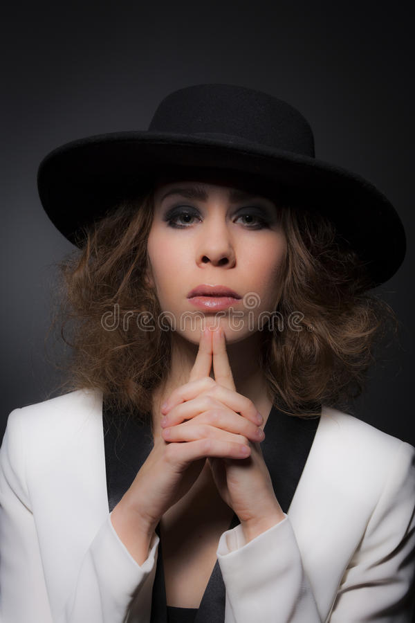 Young Elegant Lady stock photos